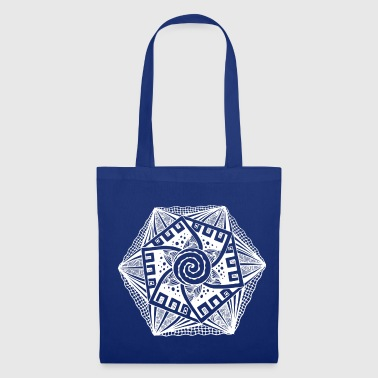 Hypnotique Blanc hexagonal - Tote Bag