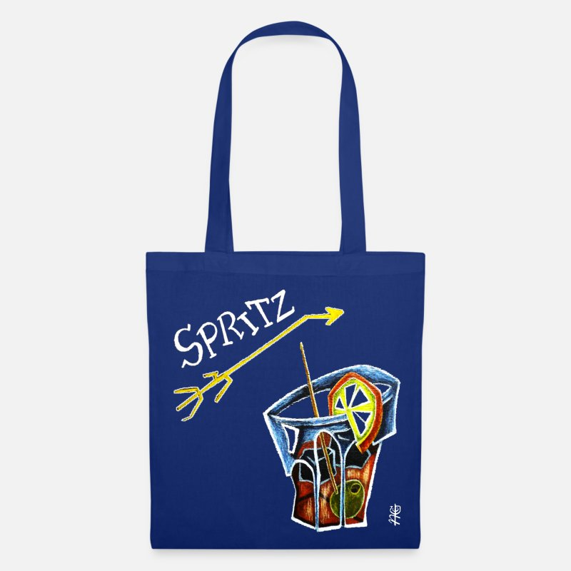 Spritz Bags & Backpacks - Spritz Aperol Party T-shirts Venice Italy - Energy Drink - Tote Bag royal blue