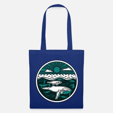 Collections Baleine à bosse famille animaux marins soleil océan mer 2 - Tote Bag