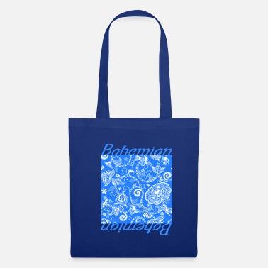 d6cb09761b1d Boheme blomstret design blå vintage boheme - Mulepose