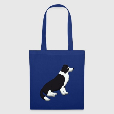 Border Collie black and white - Tote Bag