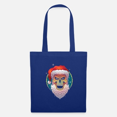 Christmas ugly christmas scull santa - Tote Bag