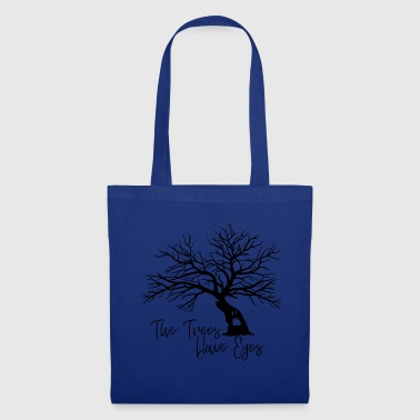 Halloween tree gift scary trees face - Tote Bag