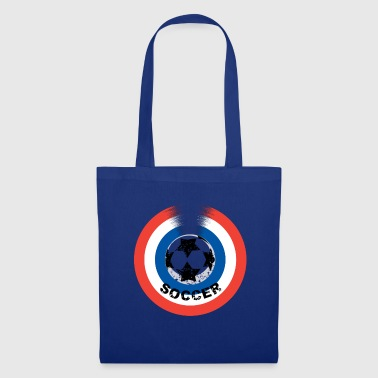 Football bleu blanc rouge - Tote Bag