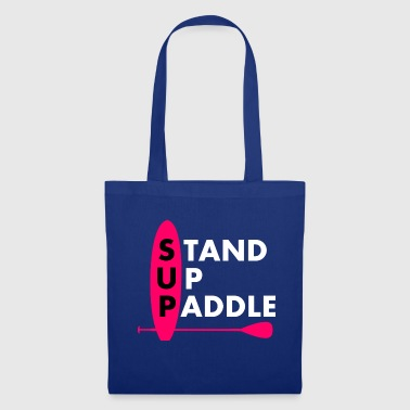 Stand Up Paddle Girl Frau Lady Pink - Stoffbeutel