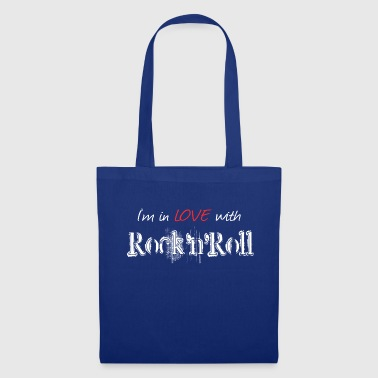 Rock n Roll White - Borsa di stoffa