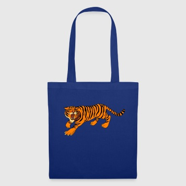 Aggressive Tiger - Tote Bag