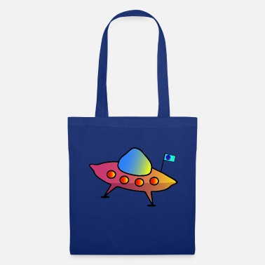 Scifi UFO, flying saucer, spaceship, scifi - Tote Bag