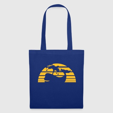 strip sun palms island holiday shadow grauwa - Tote Bag