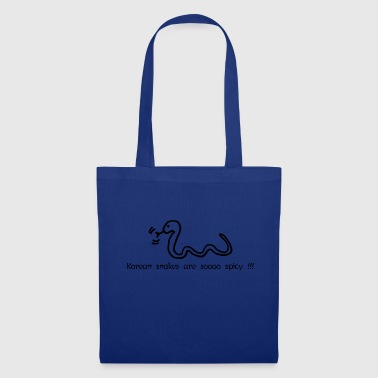 Korean snakes are soooo spicy !!! / BLACK - Tote Bag