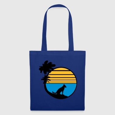 vacation beach palm vacation sea sun sitting - Tote Bag
