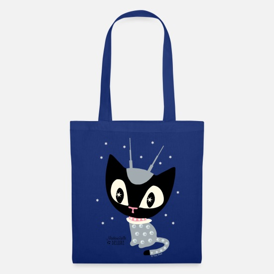 Cat Bags & Backpacks - Mademoiselle Deluxe Robot Cat - Tote Bag royal blue