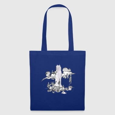 Hangover party in the woods # North German art - Tote Bag