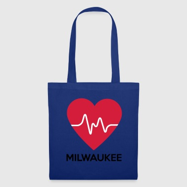 Milwaukee coeur Milwaukee - Tote Bag