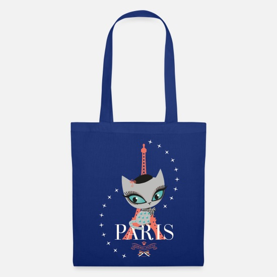 Cat Bags & Backpacks - Pussy Deluxe Eiffel Tower  - Tote Bag royal blue