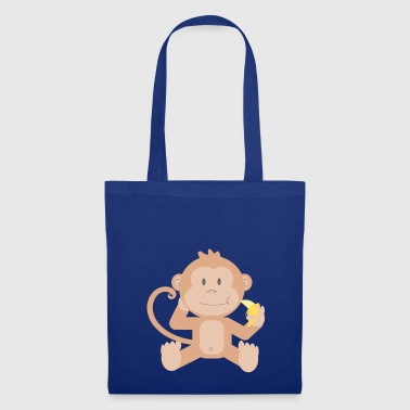 Lapsi Monkey with banana - Tote Bag