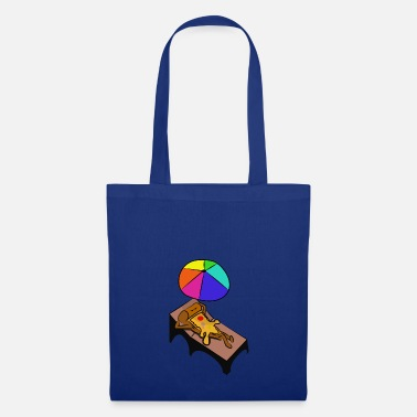 Deck Chair pizza is lying in a deck chair holiday gift - Tote Bag