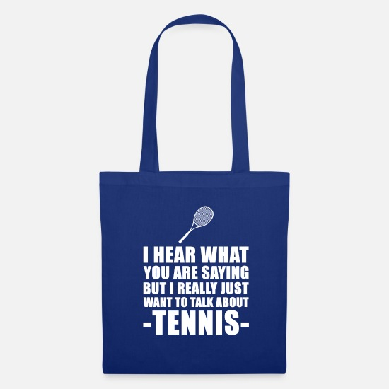 You Bags & Backpacks - Funny Tennis Player Gift Idea - Tote Bag royal blue