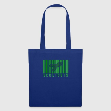 Awareness-ribbon Scoliosis Bar code Awareness Ribbon - Tote Bag