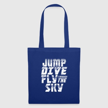 Skyrim Skydiving Jump Dive Fly Through the Sky - Tote Bag