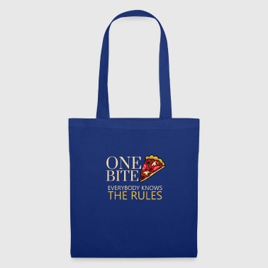 Haiti One Bite Everybody Knows The Rules, Pizza Eater - Tote Bag