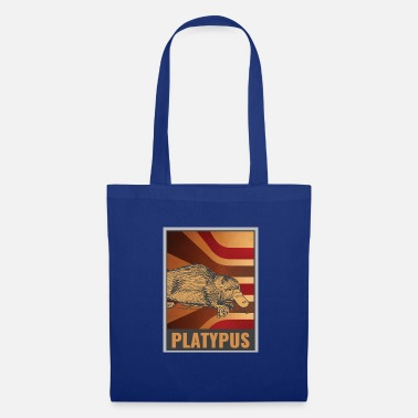 Old School Affiche old school ornithorynque - Tote Bag