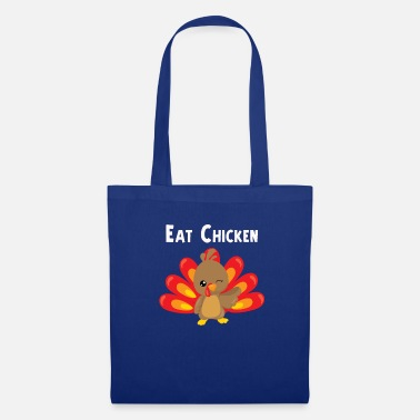 Herfst Eet Chicken Cute Thanksgiving Turkey Design - Tas van stof