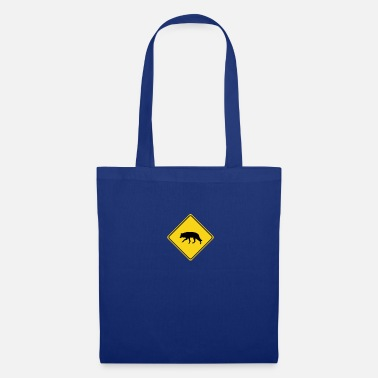 Road Sign Attention wolf road sign sign road sign - Tote Bag