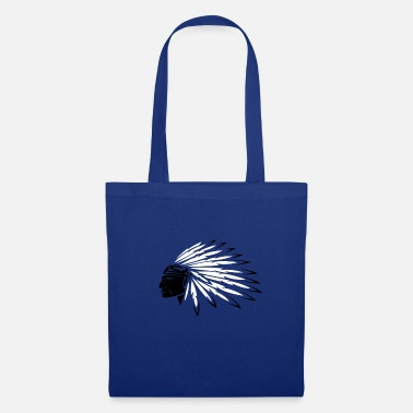 Apache Indien, ornements de plumes, chef - Tote Bag