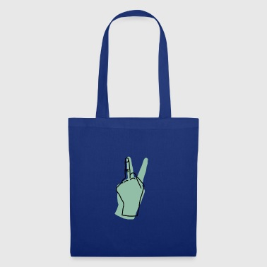 peace hand green - Tote Bag