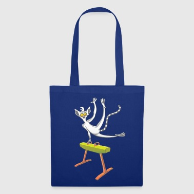 Athletic Lemur Performing on the Pommel Horse - Tote Bag