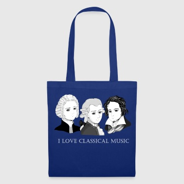 Bach - Mozart - Beethoven: I Love Classical Music - Tote Bag
