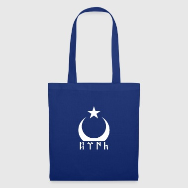 Turkey half moon across with runes - Tote Bag