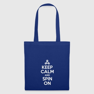 Keep Calm and Spin On - Tote Bag