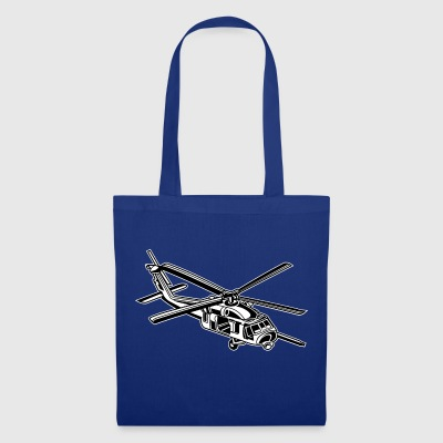 Helicopter / helicopter 01_black white - Tote Bag
