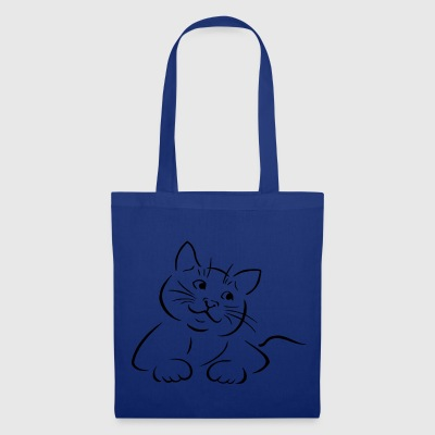 Gats the discreet but cuddly cat - Tote Bag