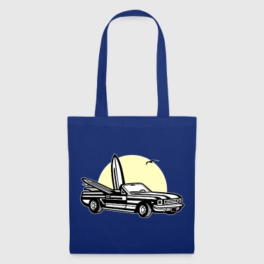 Muscle Car Sunset 01_dreifarbig - Tote Bag