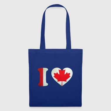 Canada I Love Flag - Tote Bag