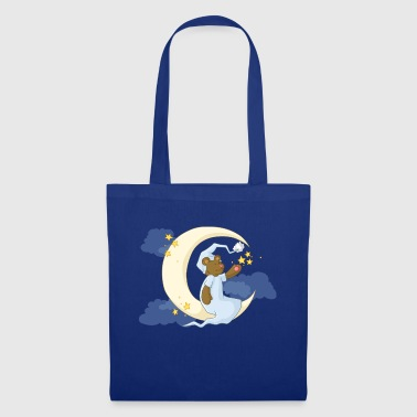 The bear in the moon - Tote Bag