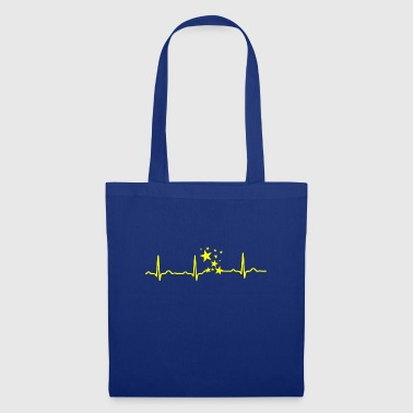 GIFT - EKG HEARTLINIE STAR STAR yellow - Tote Bag