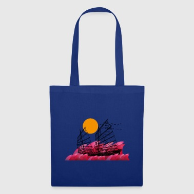 Asia motif Junk evening sun - Tote Bag