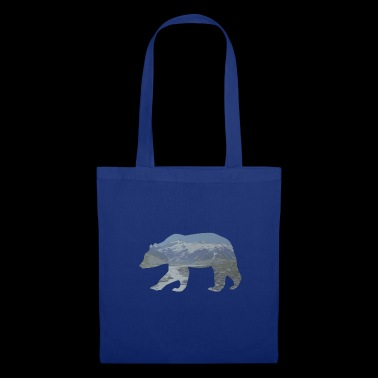 Mountains grizzly bear nature landscape gift idea - Tote Bag