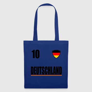 Deutschland Trikot Germany Fussball Fan T-Shirt - Stoffbeutel
