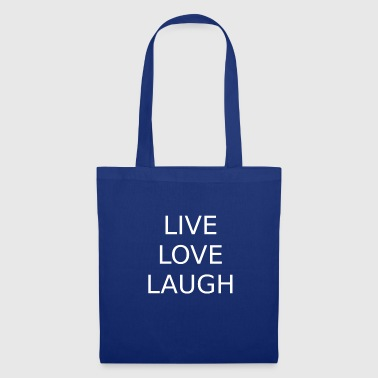 Cartas capitales de Live Love Laugh Positive Motto - Bolsa de tela