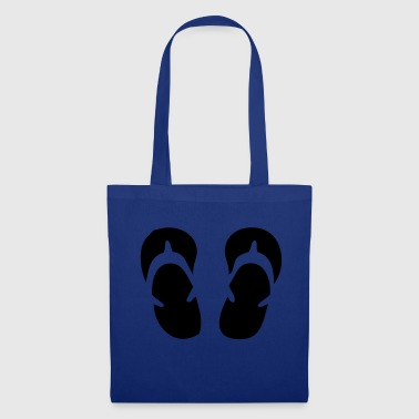 Flip flops slippers bathing summer sun gift - Tote Bag