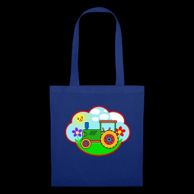 Green Traktot on the meadow - Tote Bag