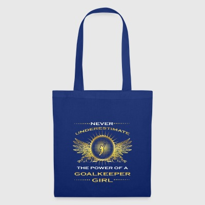 NEVER UNDERESTIMATE GIRL WIFE WOMAN GOALKEEPER - Tote Bag