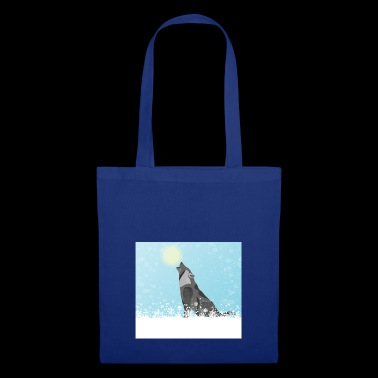 Wolf winter moon snow gift - Tote Bag