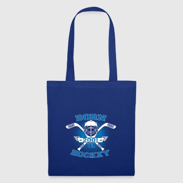born to hockey street ice gift 2001 - Tote Bag