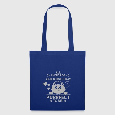 Purrfect Kitten Valentines Day Cat Sweet Gift - Tote Bag